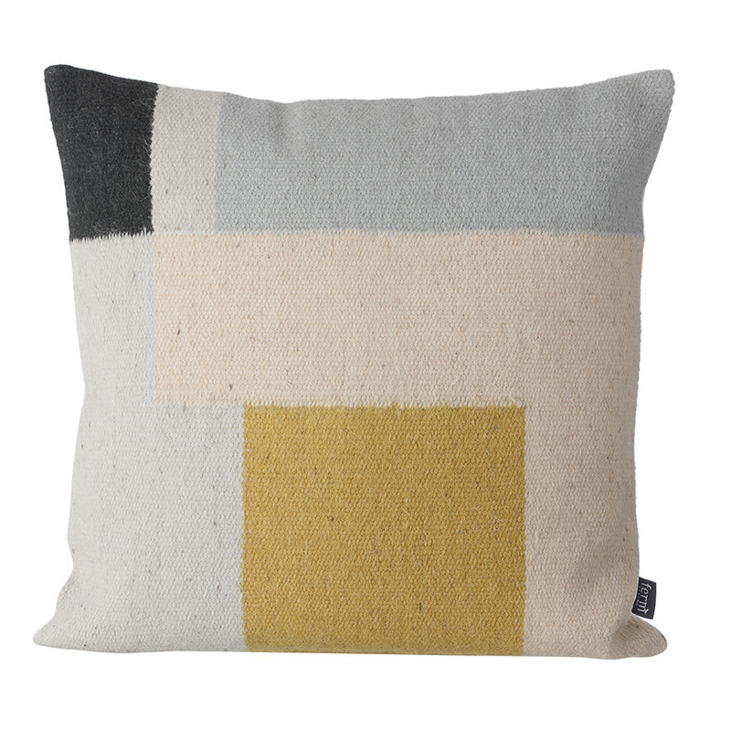 Fermliving Kelim Squares Print Cushion