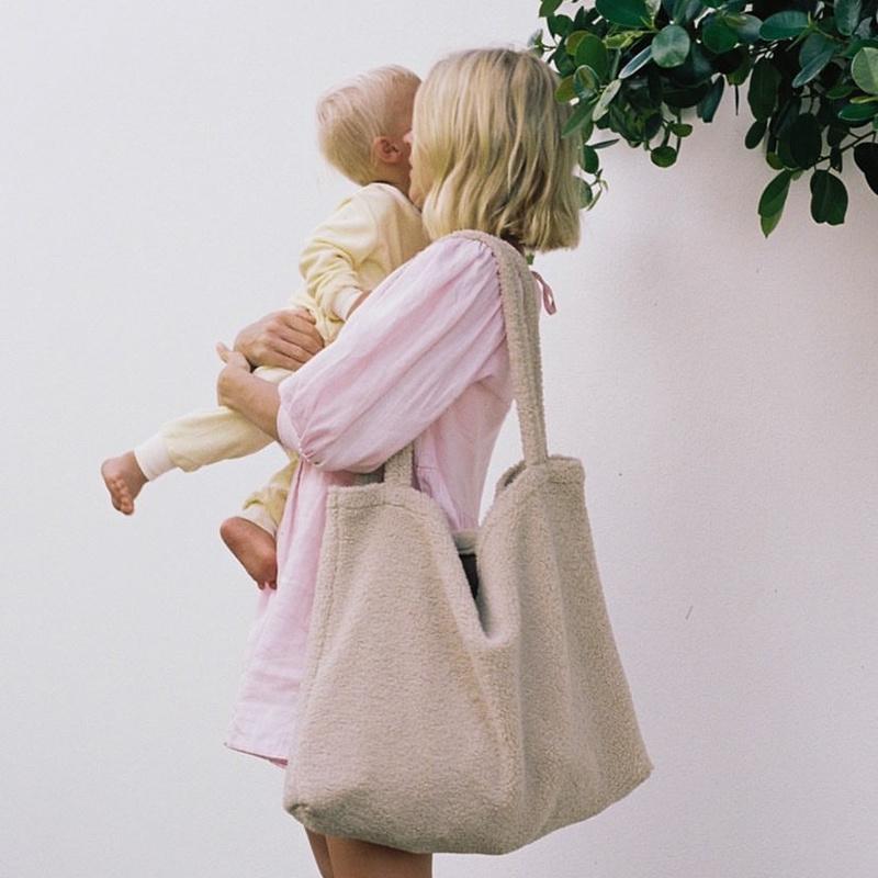 Studio Noos Mom bag  Teddy Ecru
