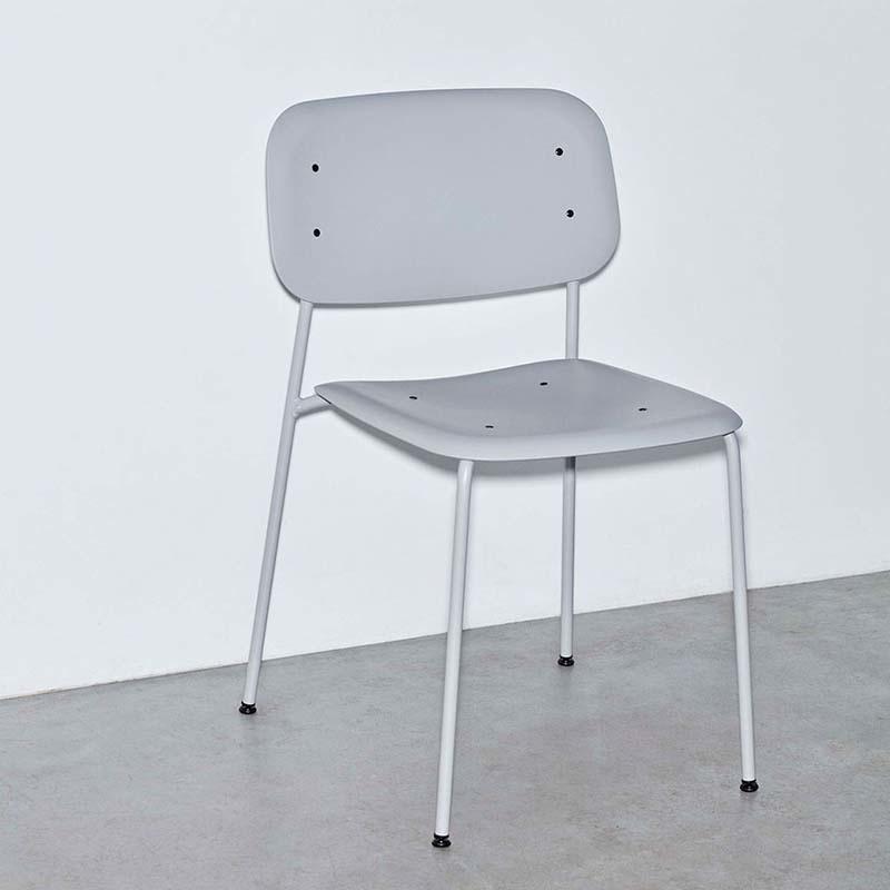 HAY Soft Edge P10 - soft grey (steel frame - polypropylene seat)