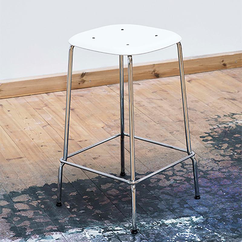 HAY Soft edge P30 barkruk  - frame chromed steel