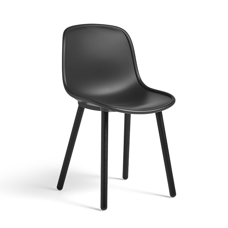 HAY Neu 12 Chair - Soft Black Water-Based Lacquered Oak Frame