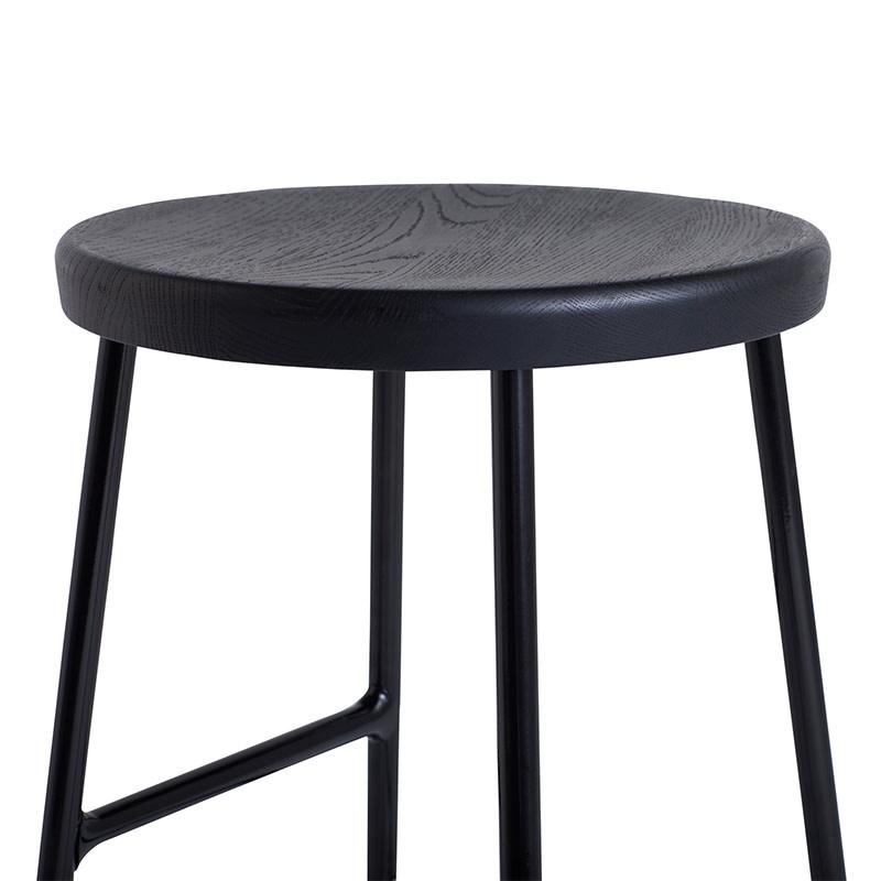 HAY Cornet tabouret de bar - soft black powder coated steel frame