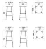 HAY Cornet barkruk - chromed steel frame