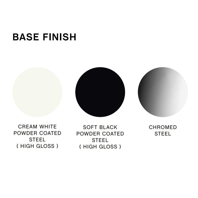 HAY Cornet barkruk - cream white powder coated steel frame