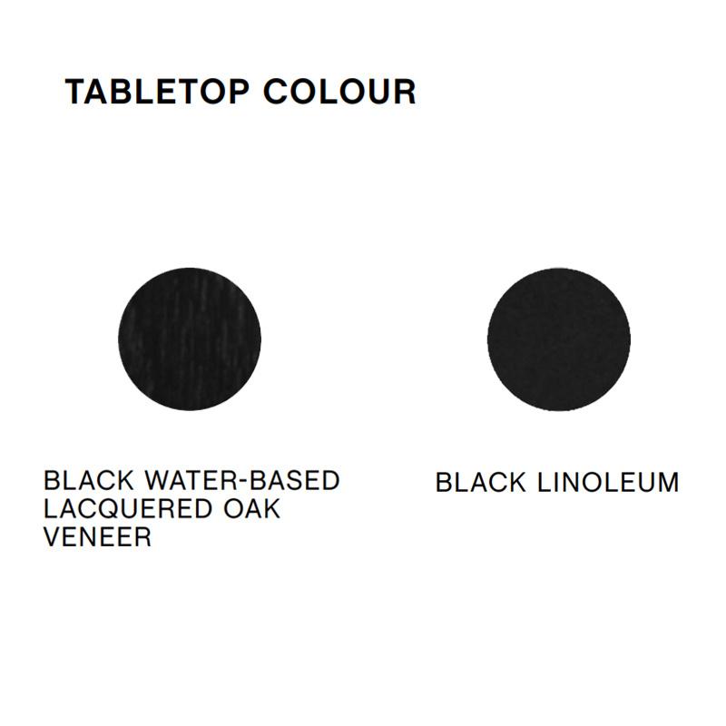 HAY CPH30 High Table with Black Oak frame L200 x H105 cm