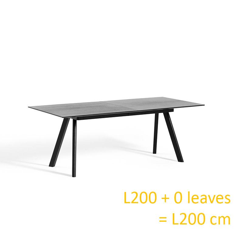 HAY CPH30 Table EXTENDABLE - 200/400 x 90 cm - black oak frame