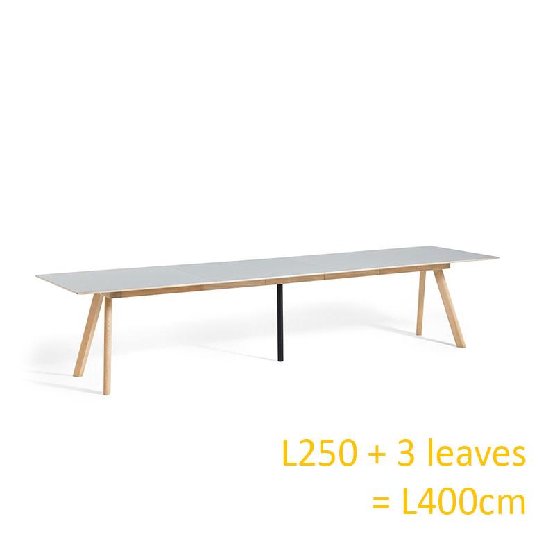 HAY CPH30 Table EXTENDABLE - 250/450 x 90 cm - natural oak frame
