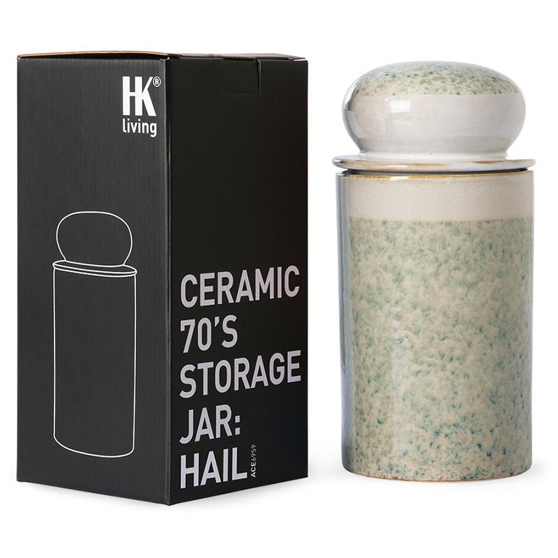 HKliving Storage jar Hail - Keramiek