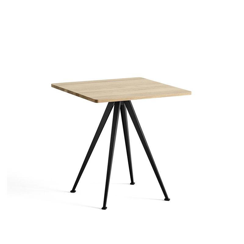 HAY Pyramid café table 21 - zwart stalen frame