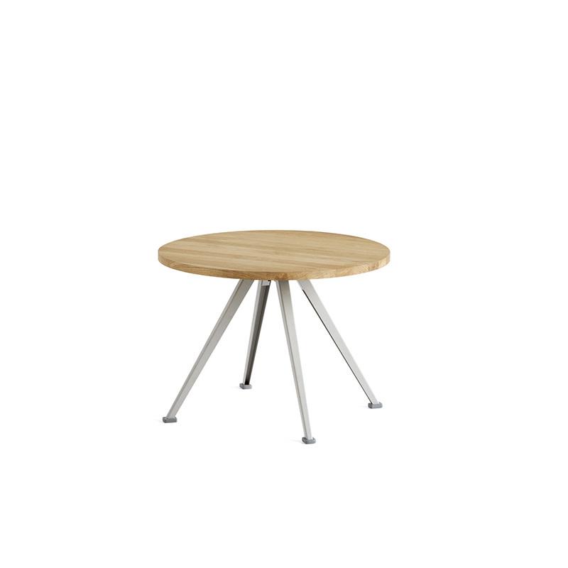 HAY Pyramid coffee table 51 - beige stalen frame