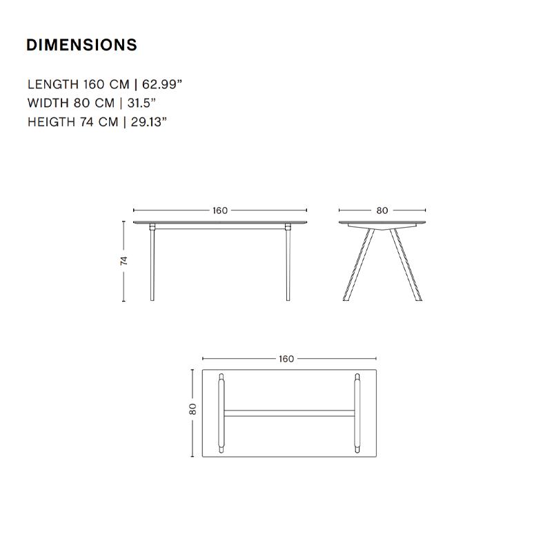 HAY CPH10 copenhague desk - black oak frame