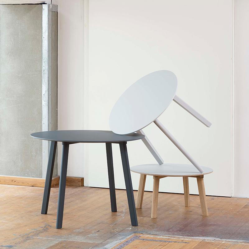 HAY CPH DEUX 220 table - coloured beech frame