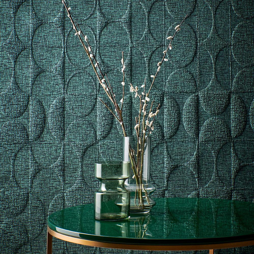 HKliving Glazen vaas groen - Medium