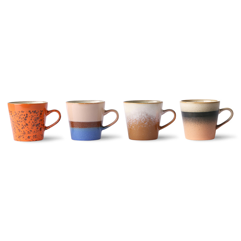 HKliving Americano koffiebekers (set van 4) - ACE6971