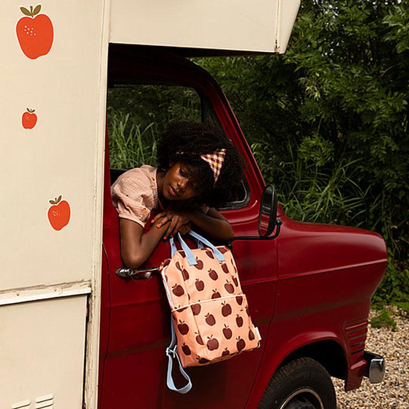 Sticky lemon Rugzak large Apples / berry swirl + cherry red + sunny blue