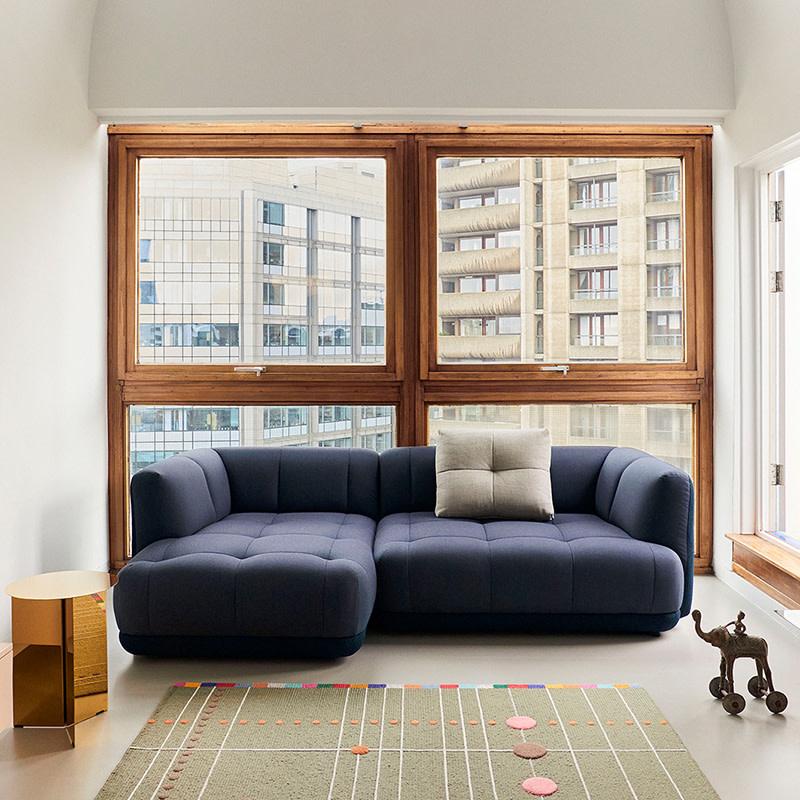 HAY Quilton sofa - comb. 19 - Flamiber dark blue