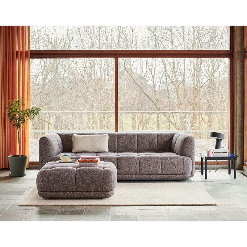 HAY Quilton sofa -3-zits met poef - Swarm multi
