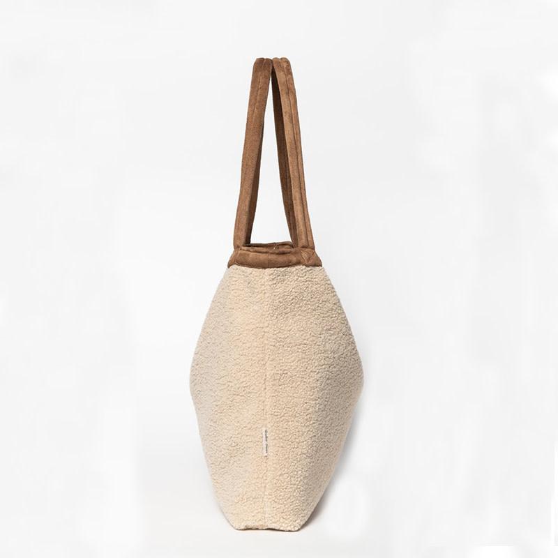 Studio Noos Mom-bag Teddy lammy Ecru