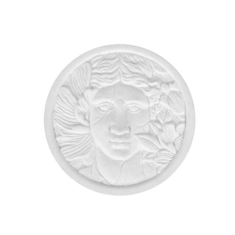 Zusss Geurkaars keramiek met deksel - hoofd vrouw