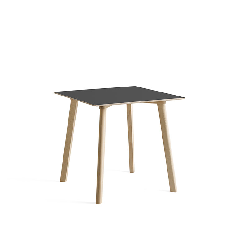 HAY CPH DEUX 210  table - untreated beech frame - 75 x 75 cm