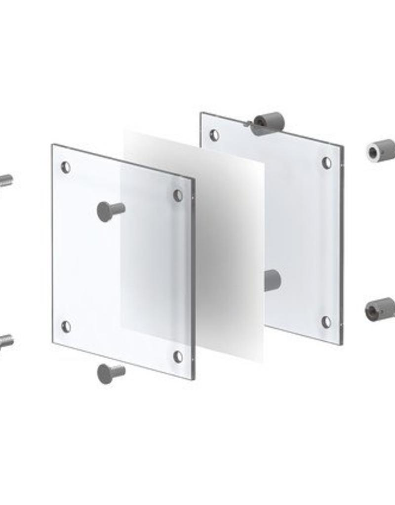 Fisso Wall Set Infoglass & Steel 15