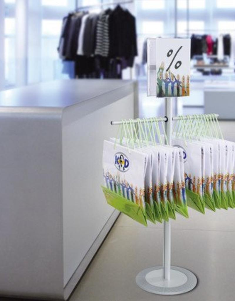 "Kunst&Dünger ""grow together"" Soistes bag floor display for shoppers"