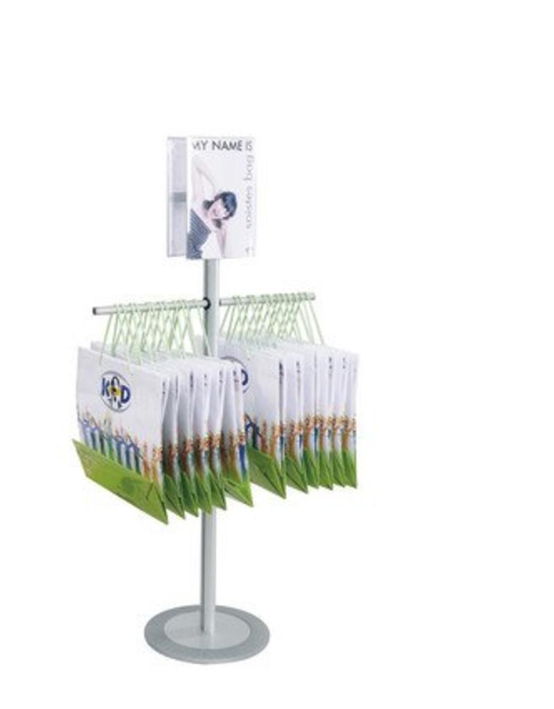 "Kunst&Dünger ""grow together"" Soistes bag floor display for shoppers"