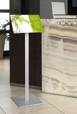 """Kunst&Dünger """"grow together"""" Smart Menu floor display with poster pocket"""