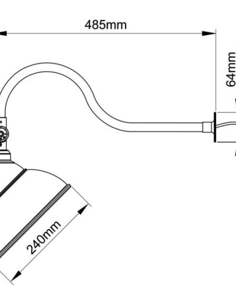 Schwanenhals-Haubenlicht für die Außenwerbung