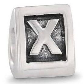 Pandora Pandora letterbedel nr. 790323Q zilver Driezijdige afbeelding !