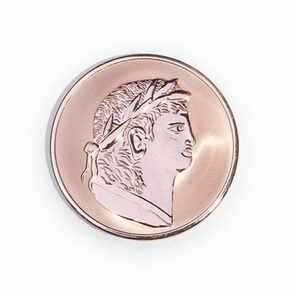 Mi Moneda Mi-moneda munt  medium Roman-scarabee rosé gold