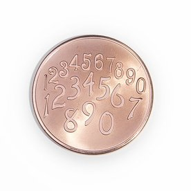 Mi Moneda Mi-moneda munt medium Phaistos-getallen rosé gold