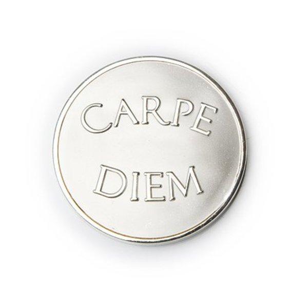 Mi Moneda Mi-moneda munt large carpe diem zilver