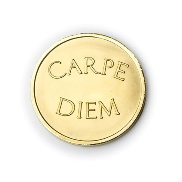 Mi Moneda Mi-moneda munt medium carpe diem gold