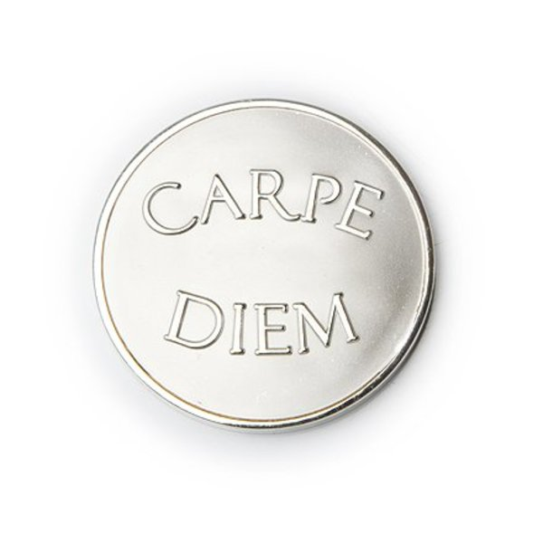 Mi Moneda Mi-moneda munt small carpe diem zilver