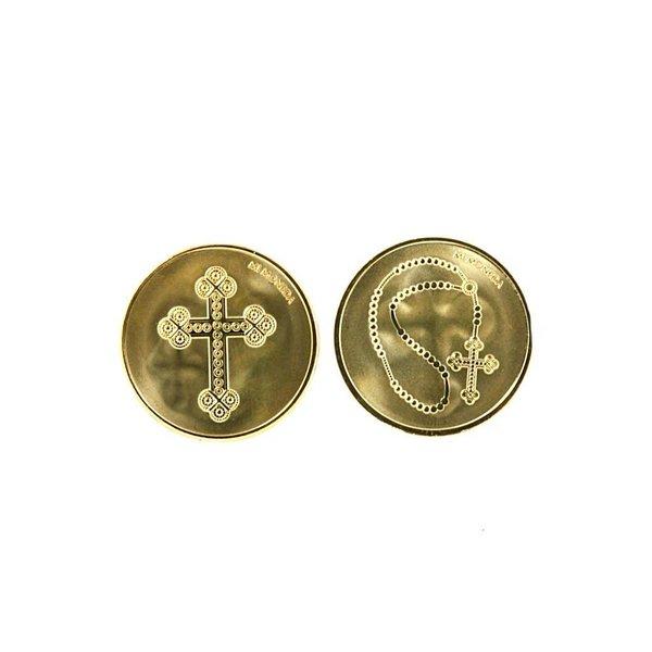 Mi Moneda Mi-moneda munt large Cross & Rosary