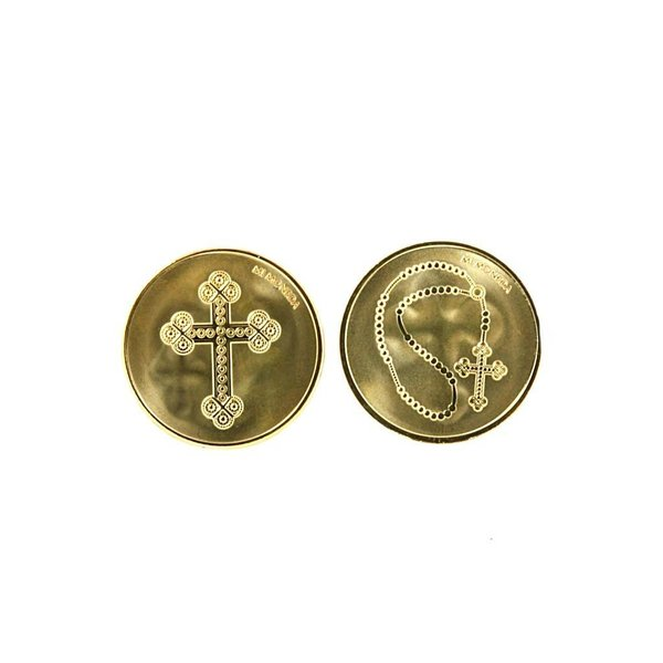 Mi Moneda Mi-moneda munt medium Cross & Rosary