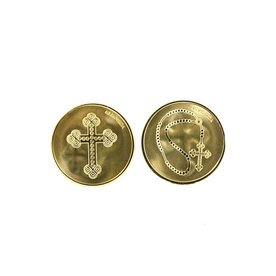 Mi Moneda Mi-moneda munt small Cross & Rosary