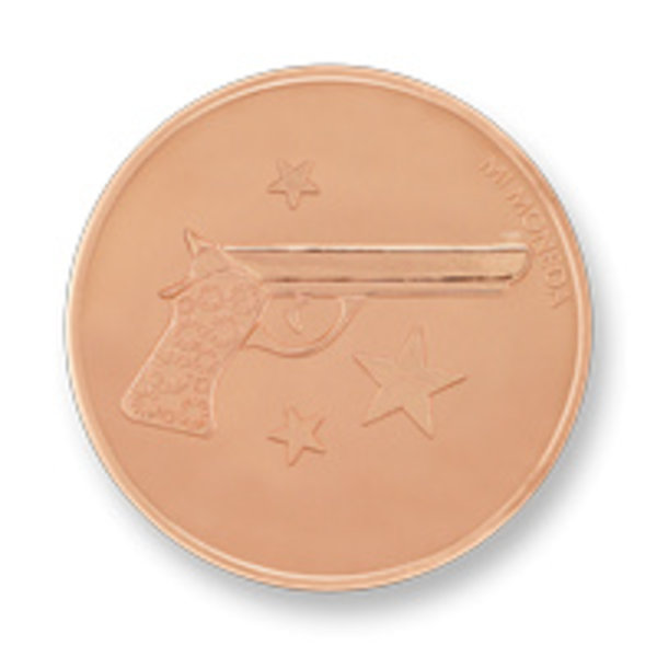 Mi Moneda Mi-Moneda munt Aim high & Pistol small