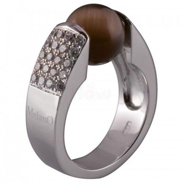 Melano Melano Cateye ring zirconia 10mm 01R 3602 CZ