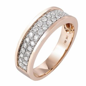 Pas Diamonds Pas Diamonds rose gouden ring