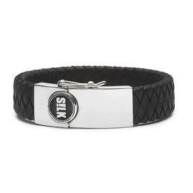 Silk S!lk armband Leather 811 zwart