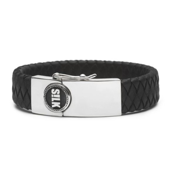 Silk S!lk armband Leather 811 zwart