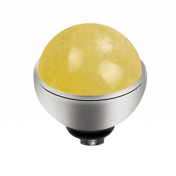 Melano Melano Twisted Einstellung Gem Stone Yellow Calcit