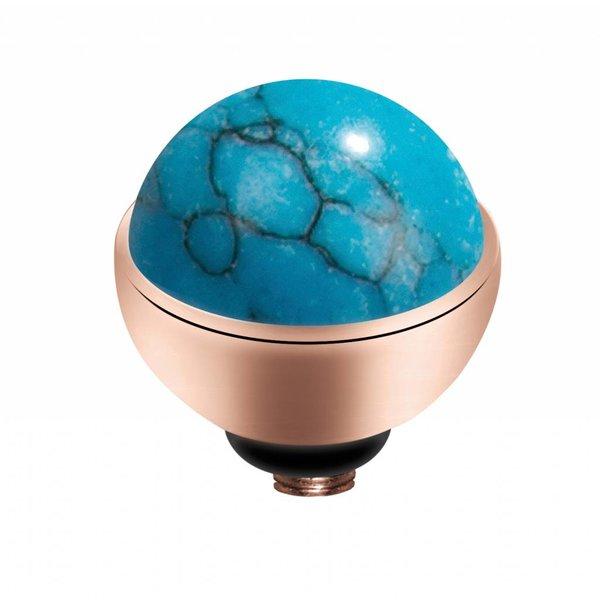 Melano Melano Twisted Rose zetting Gem Stone Turquoise