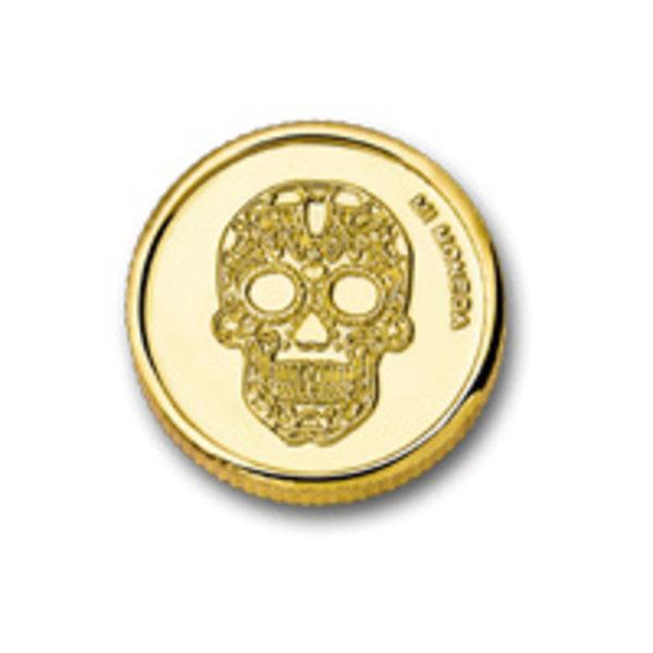 Mi Moneda Mi-Moneda munt XS Skull & Fire voor Mi-Moneda ring
