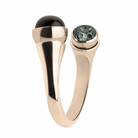 Melano Melano Twisted Ring Gebogener Rosé