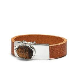 Silk Silk armband Gautama Cognac 531
