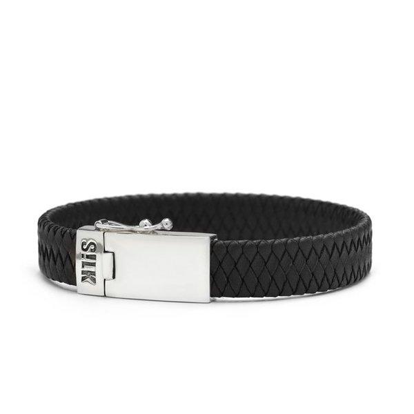 Silk Silk armband Leather Black 841