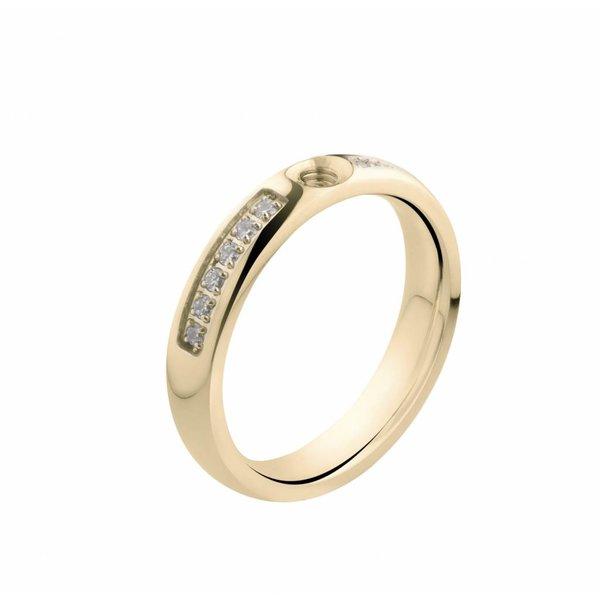 Melano MelanO Twisted ring CZ Crystal Gold